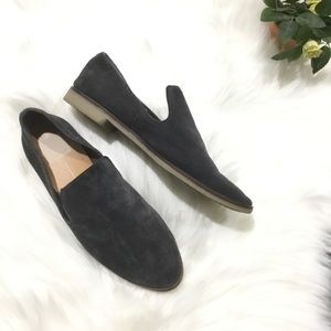 Dolce vita black/gray suede flats/ loafer size 8